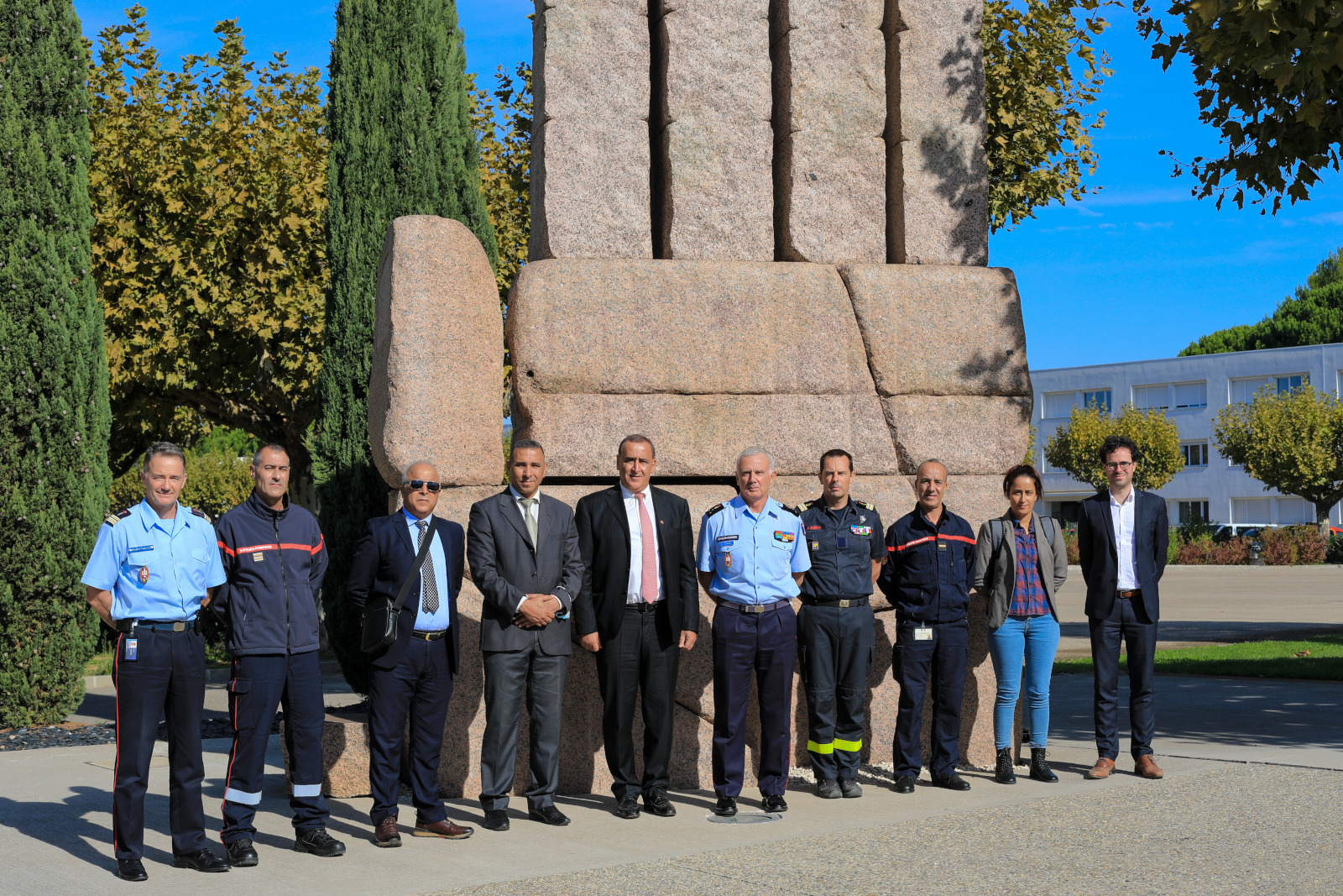 Délégation Tunisienne avec autorités de l'ENSOSP (1)